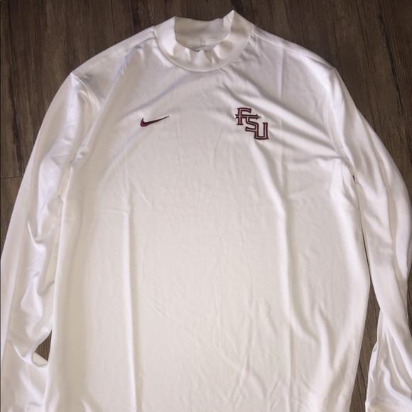 62b74a02 Nike Shirts | Fsu White Drifit Long Sleeve | Poshmark